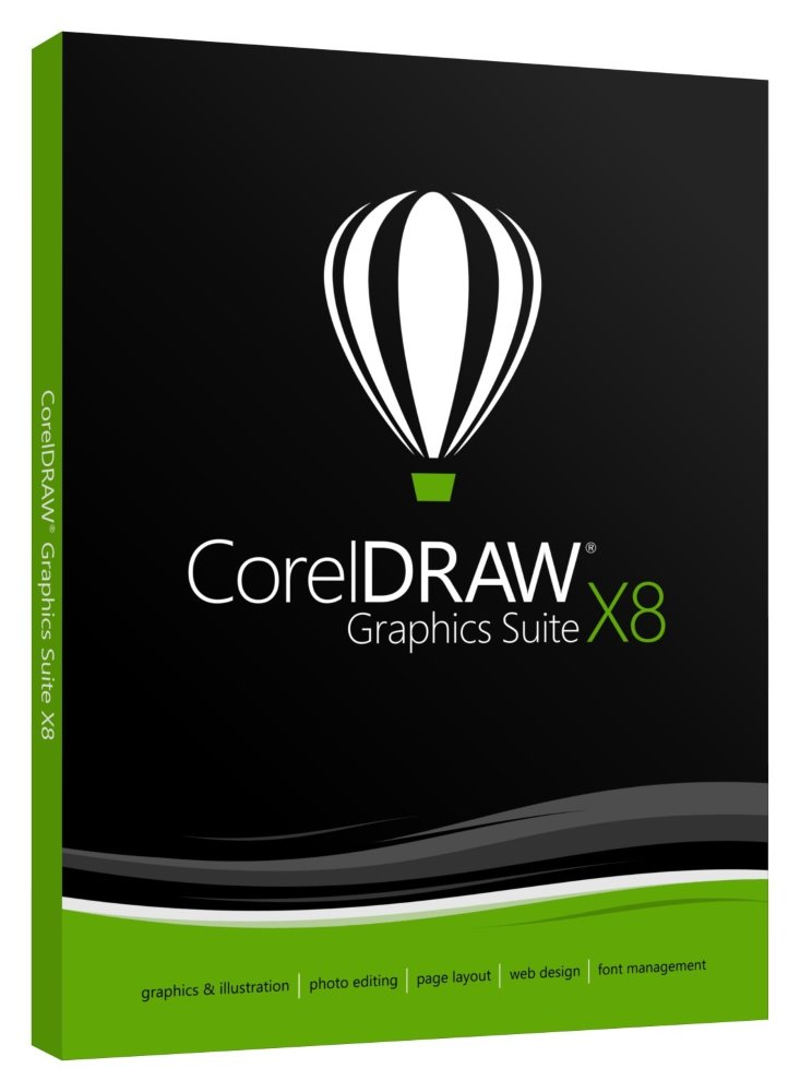 Software CorelDRAW Graphics Suite X8 Grafický software, Corel Draw X8, Photo-Paint X8, Font Manager X8, PowerTrace X8, Connect, Capture X8, Webside Creator, český CDGSX8CZPLDP