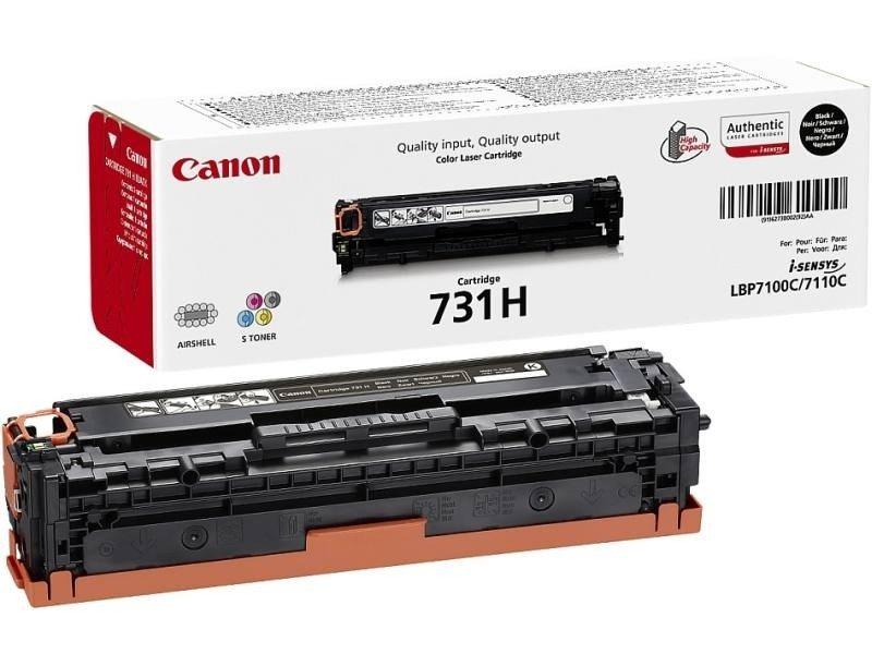 Laserový toner Canon 731H Laserový toner, LBP-7100, 7110, 2400 stran, černá - ROZBALENÉ TONC1959V