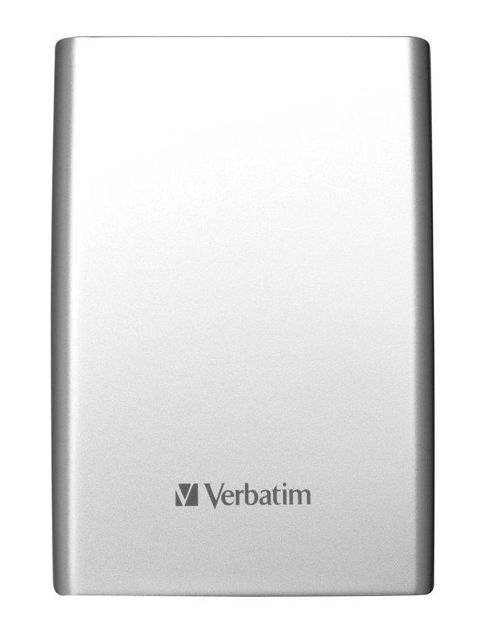 Pevný disk Verbatim 500 GB Pevný disk, externí, 500 GB, 2,5, USB 3.0, ultra slim, stříbrný 53151