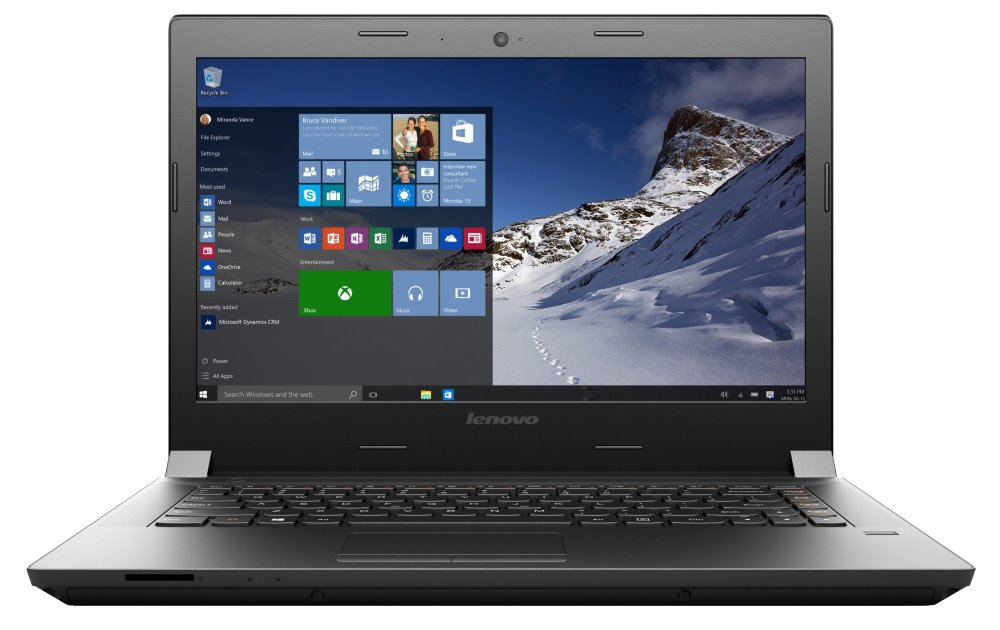 Notebook Lenovo B41-30 Notebook, N3700, 2 GB, 500 GB-5400, 14 HD TN, Intel HD Graphics, DVD-RW, W10 Home, 2yCarryIn 80LF002QCK