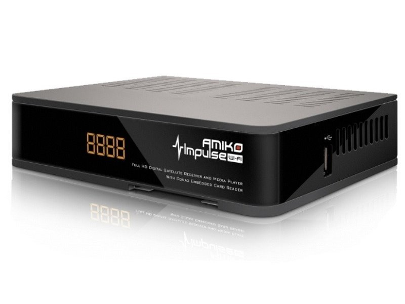 Satelitní přijímač AMIKO Impulse WiFi HD Satelitní přijímač, Full HD, MPEG2, MPEG4, HDMI, USB, PVR, SCART, Wi-Fi - POUŽITÉ DVBM1053V