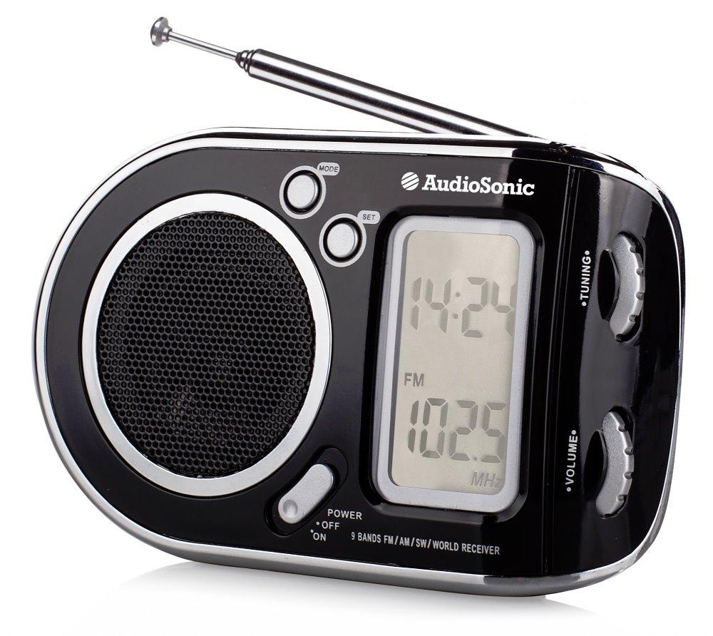 Rádio TOPCOM AudioSonic RD-1519 Rádio, přenosné, černostříbrné RD-1519