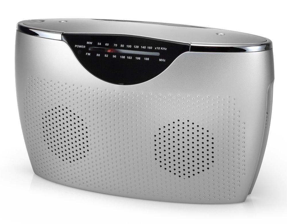 Rádio TOPCOM AudioSonic RD-1545 Rádio, přenosné, stříbrné RD-1545