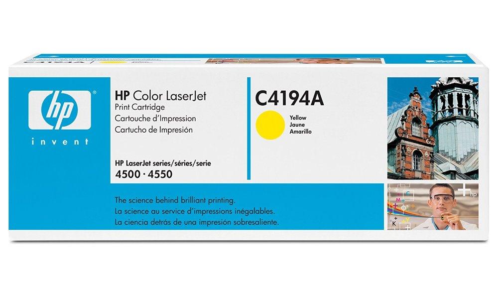 Toner HP C4194A pro C4194, LJ 4500, žlutý C4194A
