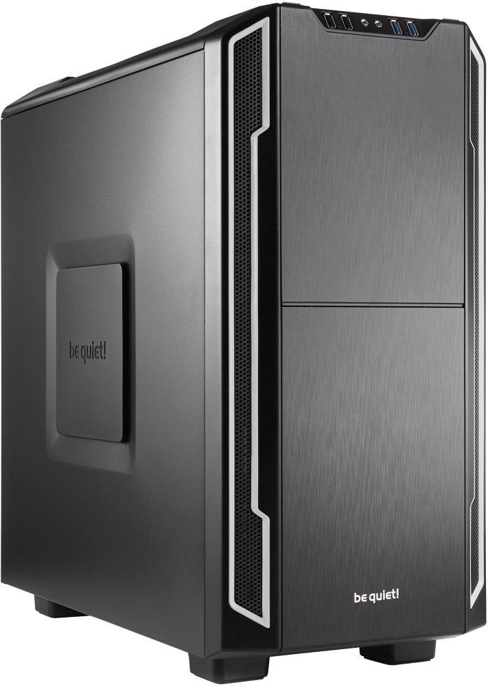 Skříň Be quiet! SILENT BASE 600 Skříň, MidT, bez zdroje, 2x USB2.0 + 2x USB3.0, černostříbrná BG007