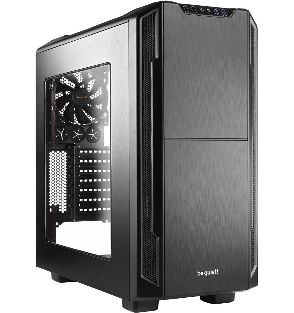 Skříň Be quiet! SILENT BASE 600 Skříň, MidT, bez zdroje, 2x USB2.0 + 2x USB3.0, černá, průhledná bočnice BGW06