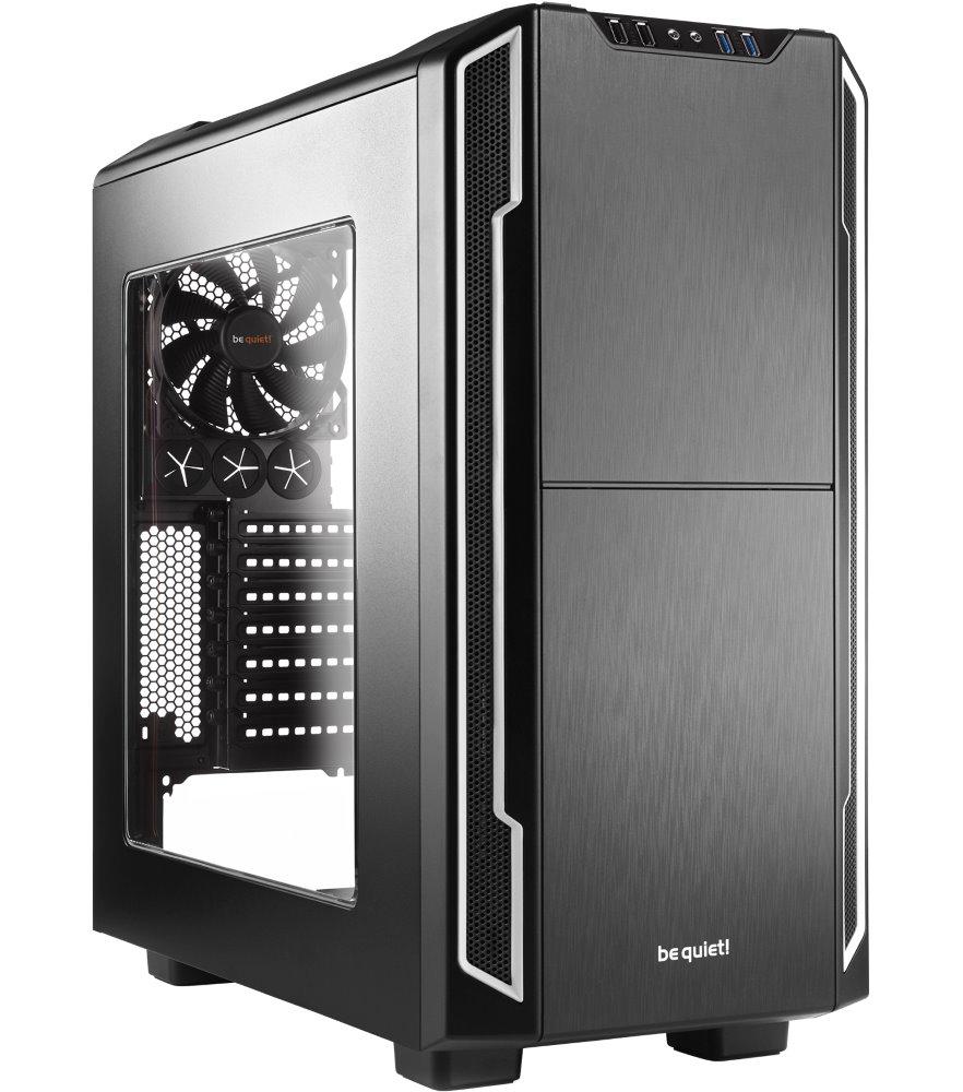 Skříň Be quiet! SILENT BASE 600 Skříň, MidT, bez zdroje, 2x USB2.0 + 2x USB3.0, černostříbrná, průhledná bočnice BGW07