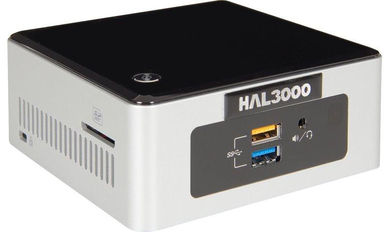 HAL3000 NUC Kit Celeron W10P Počítač, Intel Celeron N3050, 4GB, SSD 120GB, WiFi, CR, W10 Pro PCHS21222