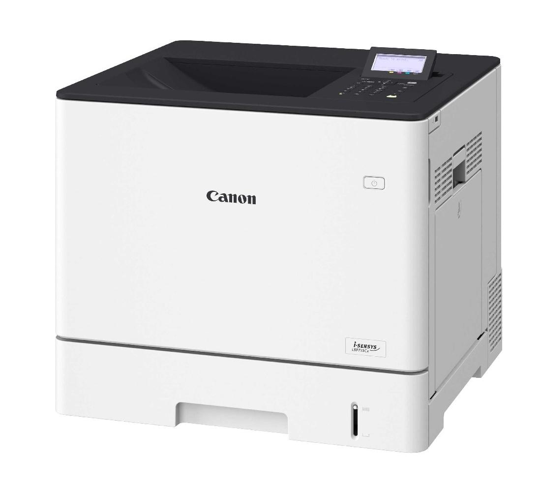Laserová tiskárna Canon i-SENSYS LBP712CX Barevná laserová tiskárna, A4, 9600x600, Duplex, LAN, USB, bílá 0656C001
