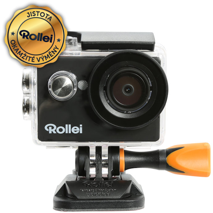 Kamera Rollei ActionCam 415 Kamera, outdoor, FULL HD video 1080p/30 fps, 140, 40m pzd, černá, CZ + SK menu 40297