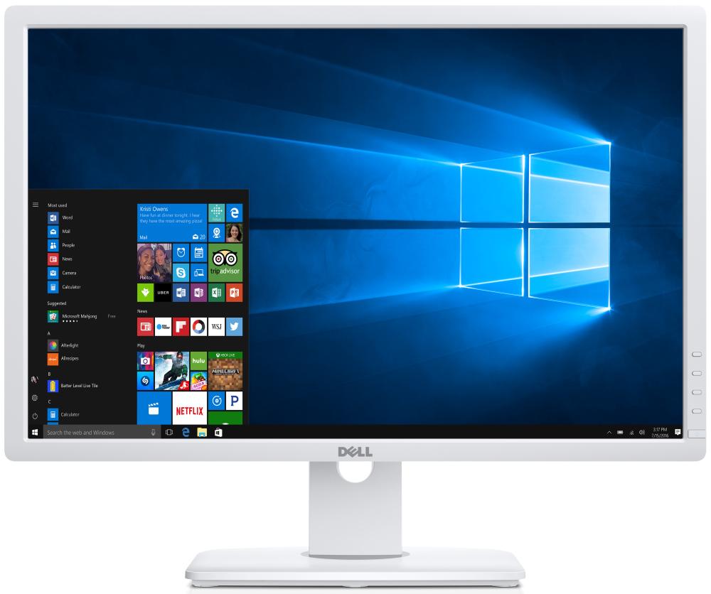 LED monitor DELL UltraSharp U2412M LED monitor, 24 WLED, 16:10, 1920x1200, 1000:1, 8ms, Full HD, 4xUSB, DVI, DP, VGA, IPS, bílý 3YNBD on-site U2412MWh-WHITE