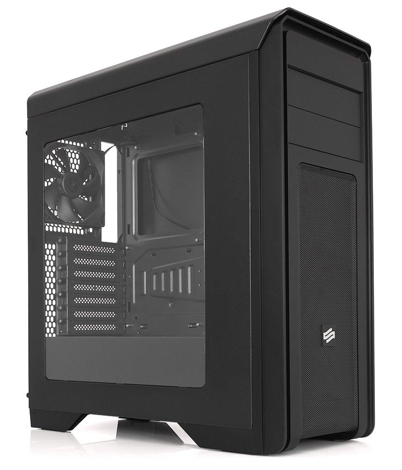 Skříň SilentiumPC Gladius M35W Skříň, MidT, průhledná bočnice, USB 3.0, 2 x 120 mm fan, 2 x regulátor otáček, bez zdroje, černá SPC156