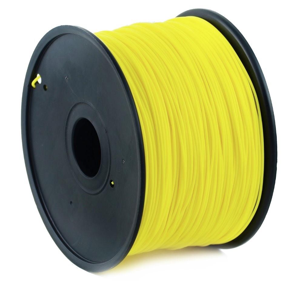 Plastické vlákno Gembird PLA 1,75mm žluté Plastické vlákno, pro 3D tisk, průměr 1,75mm, hmotnost materiálu 1kg, žluté