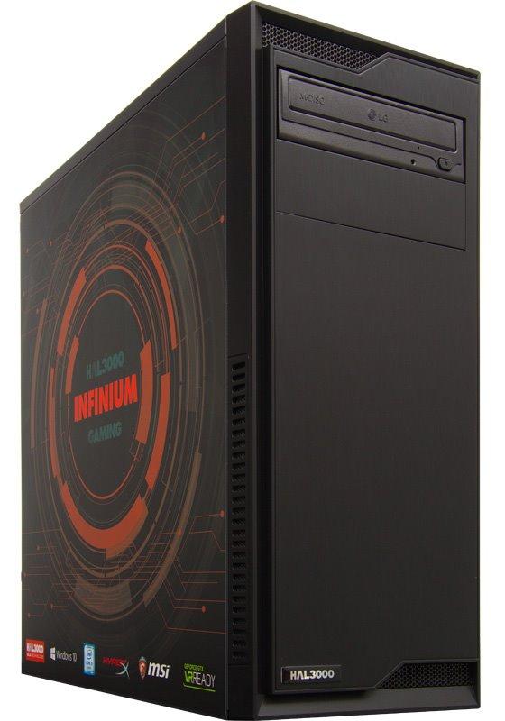 HAL3000 Infinium W10 Počítač, Intel i5-6400, 16GB, GTX 1060, 120GB SSD + 1TB, DVD, W10 PCHS21361