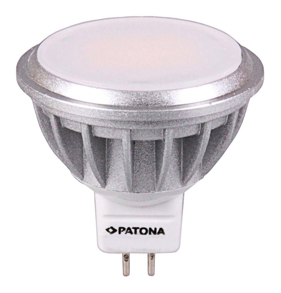 LED žárovka PATONA GU5,3 7,5 W teplá bílá LED žárovka, GU5,3/12V, MR16, SMD2835, 7,5 W, teplá bílá, 560 lm PT4124