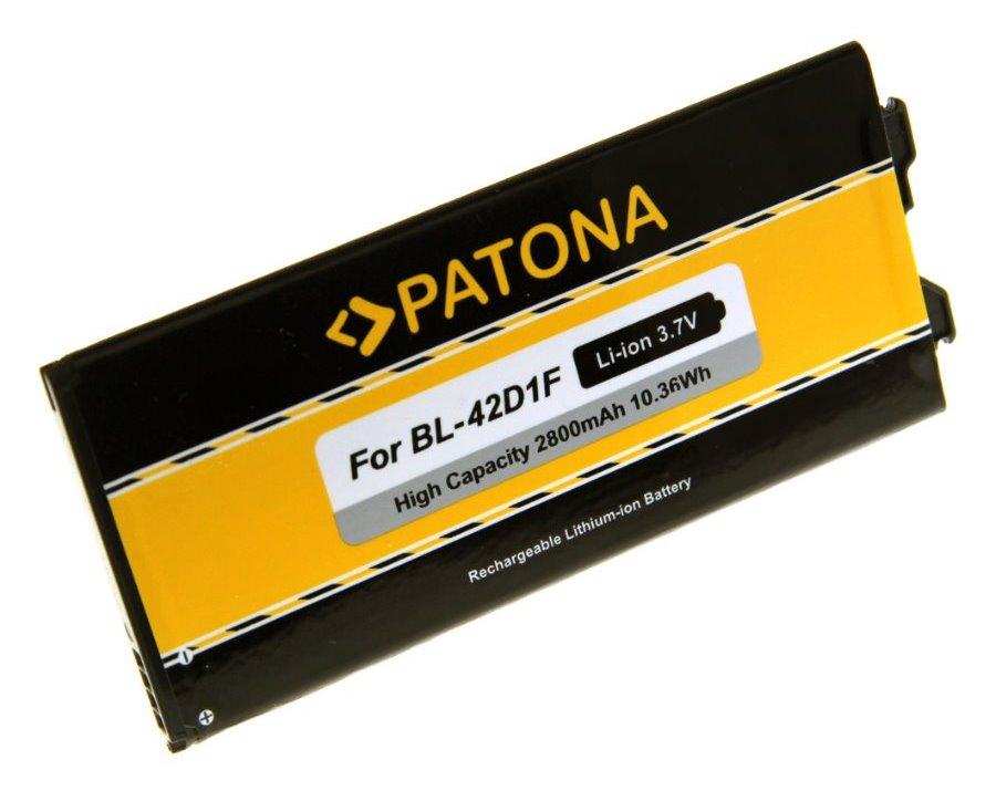 Baterie PATONA kompatibilní s LG G5 Baterie, pro mobilní telefon LG G5, 2800 mAh, 3.7 V, Li-Ion, kompatibilní s BL-42D1F PT3155