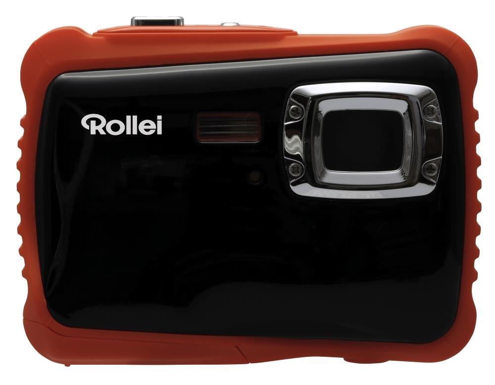 Digitální fotoaparát Rollei Sportsline 65 oranžový Digitální fotoaparát, 5 MPix, 2 LCD, voděodolný do 3 m, HD, brašna zdarma, černo-oranžový - POŠKOZENÝ OBAL FOTR2132V