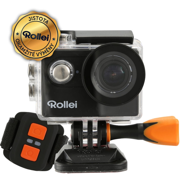 Kamera Rollei ActionCam 425 Kamera, outdoor, 4K video 25 fps, 1080, 60 fps, 170, 40m pzd., dálkový ovladač, Wi-Fi, černá 40298