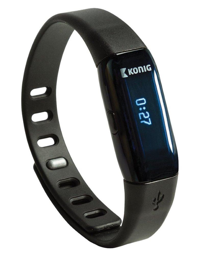 Fitness náramek KÖNIG KN-ACTBL10B Fitness náramek, Bluetooth, černý KN-ACTBL10B