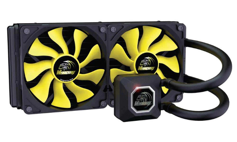 Vodní chladič AKASA Venom A20 Vodní chladič, pro CPU, Intel LGA 775, 115x, 1366, 2011 / AMD AM2, AM2+, AM3, AM3+, FM1, FM2 AK-LC4002HS01
