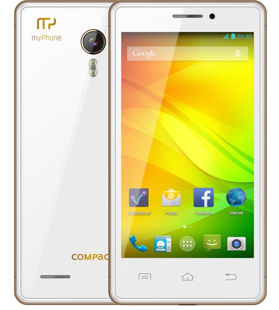 Mobilní telefon myPhone COMPACT Mobilní telefon, Dual SIM, 4 GB, 512MB RAM, Andriod 5.1 TELMYACOMPACTWH