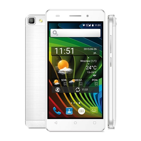 Mobilní telefon myPhone L-LINE bílý Mobilní telefon, 4,5, Dual SIM, 8 GB, 1 GB RAM, Android 5.1, bílý TELMYALLINEWH