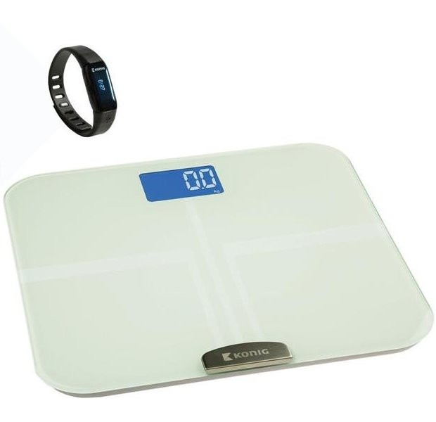 Fitness náramek KÖNIG KN-ACTBL10B set 1 Fitness náramek, Bluetooth, + BMI osobní váha HEALTHPROMO1