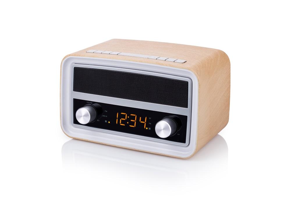 Rádio TOPCOM AudioSonic RD-1535 Rádio, Bluetooth, retro design, FM, budík, USB, barva dřeva RD-1535