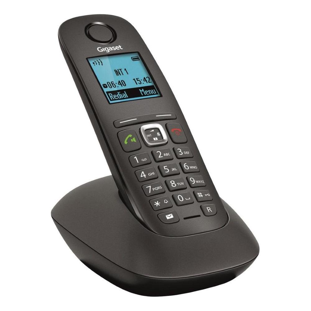 Bezdrátový telefon SIEMENS GIGASET A540 černý Bezdrátový telefon, DECT/GAP, černý GIGASET-A540