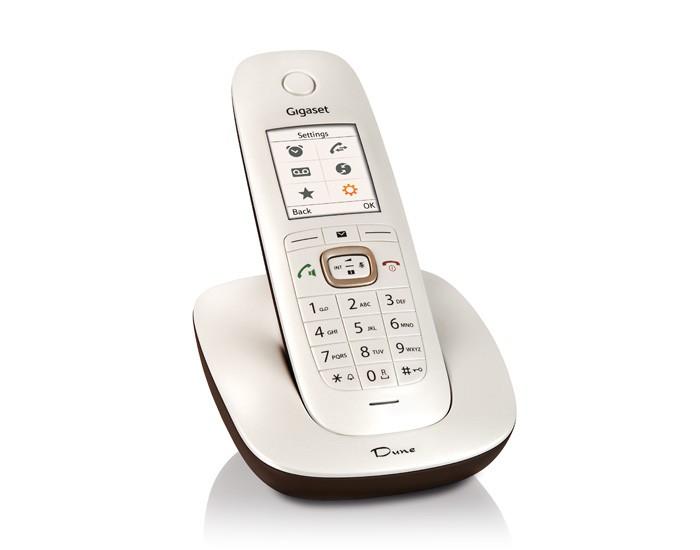 Bezdrátový telefon SIEMENS GIGASET CL540 Bezdrátový telefon, DECT/GAP, bezdrátový, bílo / hnědý GIGASET-CL540