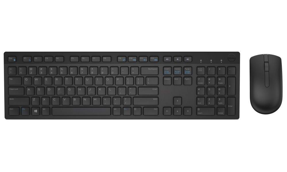 Set klávesnice a myši DELL KM636 Set klávesnice a myši, bezdrátový, klávesnice a myš, ruská, černá 580-ADFN
