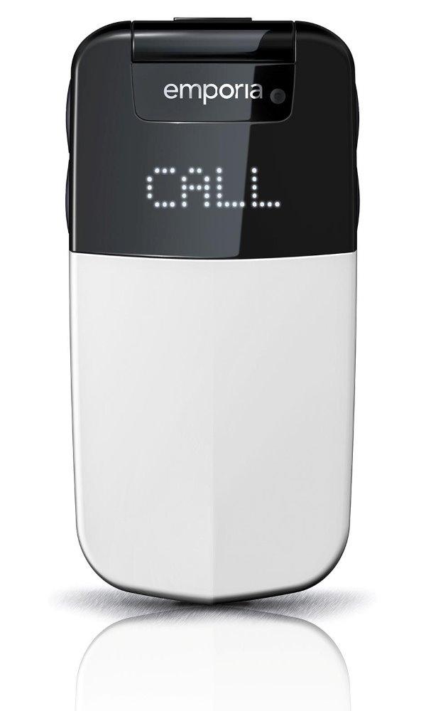 Mobilní telefon Emporia Glam bílý Mobilní telefon, pro seniory, 2,4, TFT, 2 Mpx, véčko, bílý TELEMGLAMWH