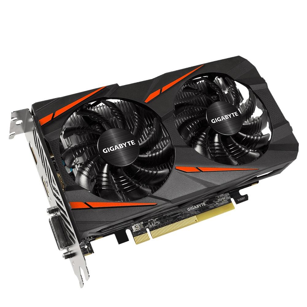 Grafická karta GIGABYTE Radeon RX 460 2 GB Grafická karta, PCI-E, 2 GB DDR5, DP, HDMI, DVI, active GV-RX460WF2OC-2GD