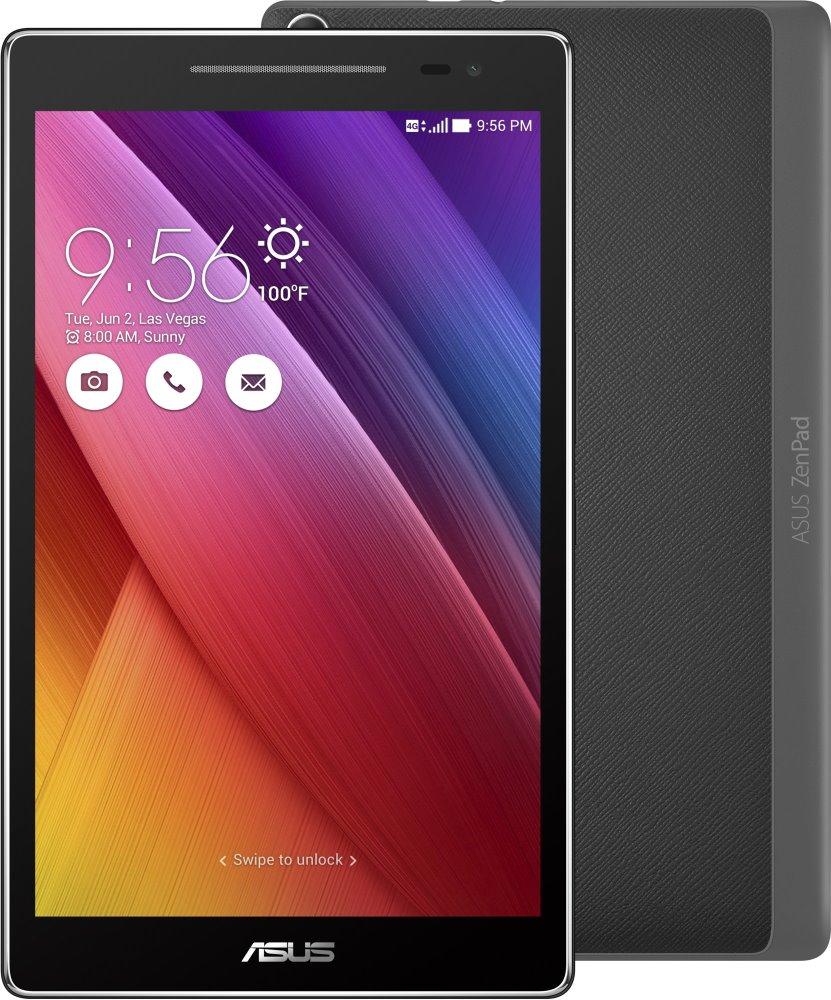 Tablet ASUS ZenPad 8 Z380KNL-6A015A Tablet, QC8916, 2 GB, 16 GB, 8 IPS, 1280x800, GPS, BT, LTE, Wi-Fi, Android 6.0, šedý Z380KNL-6A015A