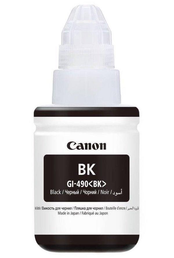Inkoustová náplň Canon GI-490PGBK Inkoustová náplň, pro tiskárny Canon PIXMA G1400, 2400, 3400, černá, 135 ml 0663C001