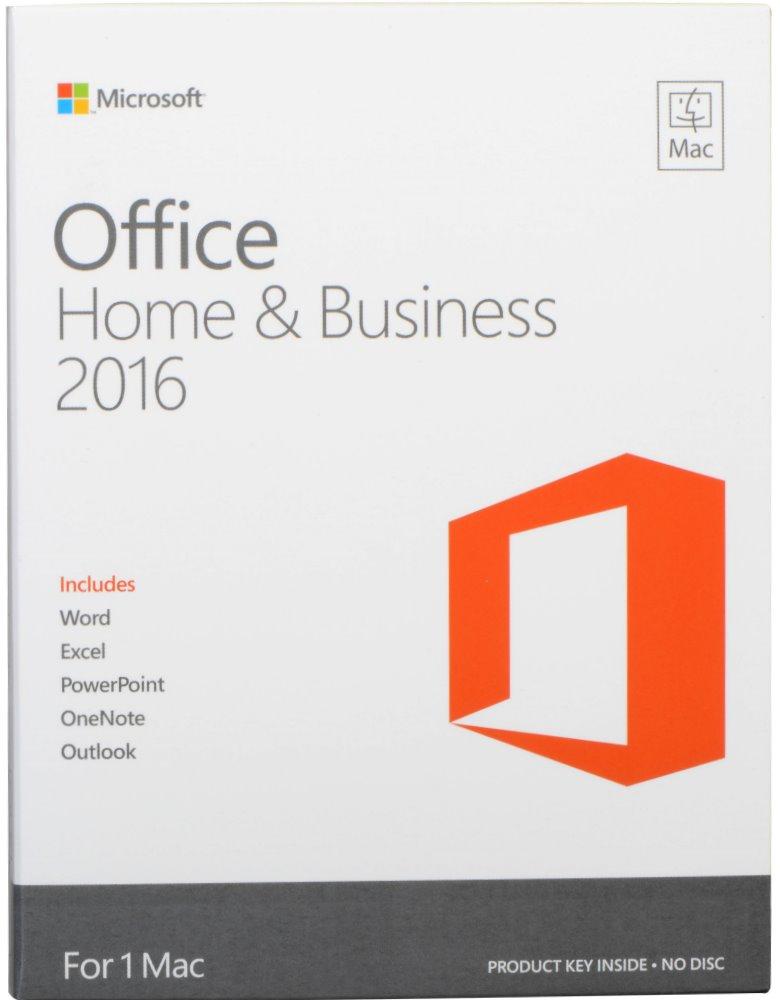 Kancelářský balík MS Office 2016 pro Mac Kancelářský balík, pro domácnosti a podnikatele, 1pk ENG P2 - bez média W6F-00952