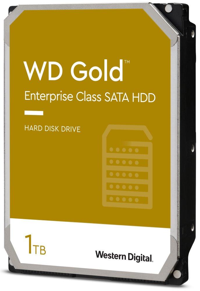 Pevný disk WD GOLD 1 TB Pevný disk, WD1005FBYZ, Sata3, Interní, 3,5, 7200rpm, 64MB WD1005FBYZ