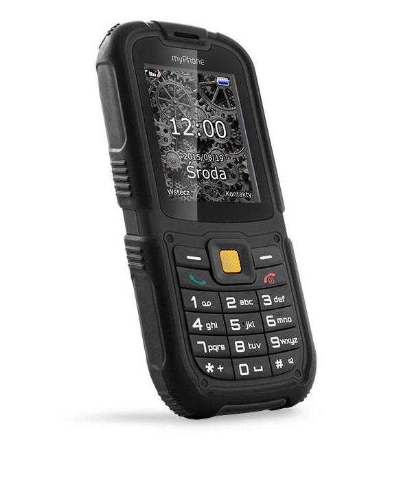 Mobilní telefon myPhone HAMMER 2 Mobilní telefon, 2,2, Dual SIM, 32 MB, IP67, černý TELMYHHA2BK