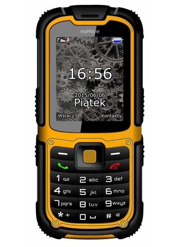 Mobilní telefon myPhone HAMMER 2 Mobilní telefon, 2,2, Dual SIM, 32 MB, IP67, oranžový TELMYHHA2OR