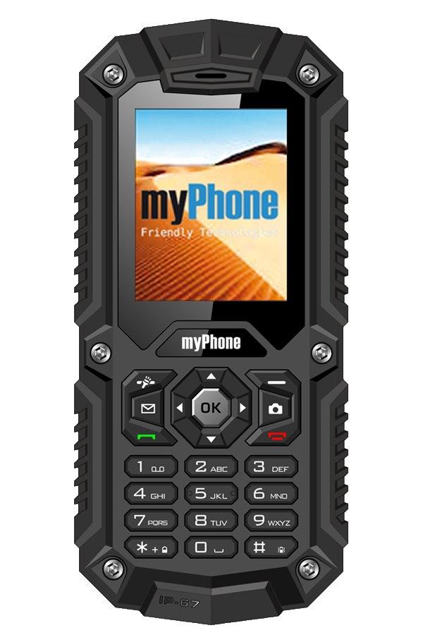 Mobilní telefon myPhone HAMMER Mobilní telefon, 2, Dual SIM, 32 MB, IP67, černý TELMYHHAMBK