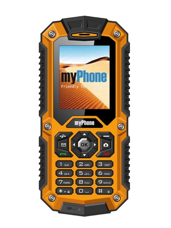 Mobilní telefon myPhone HAMMER Mobilní telefon, 2, Dual SIM, 32 MB, IP67, oranžový TELMYHHAMOR