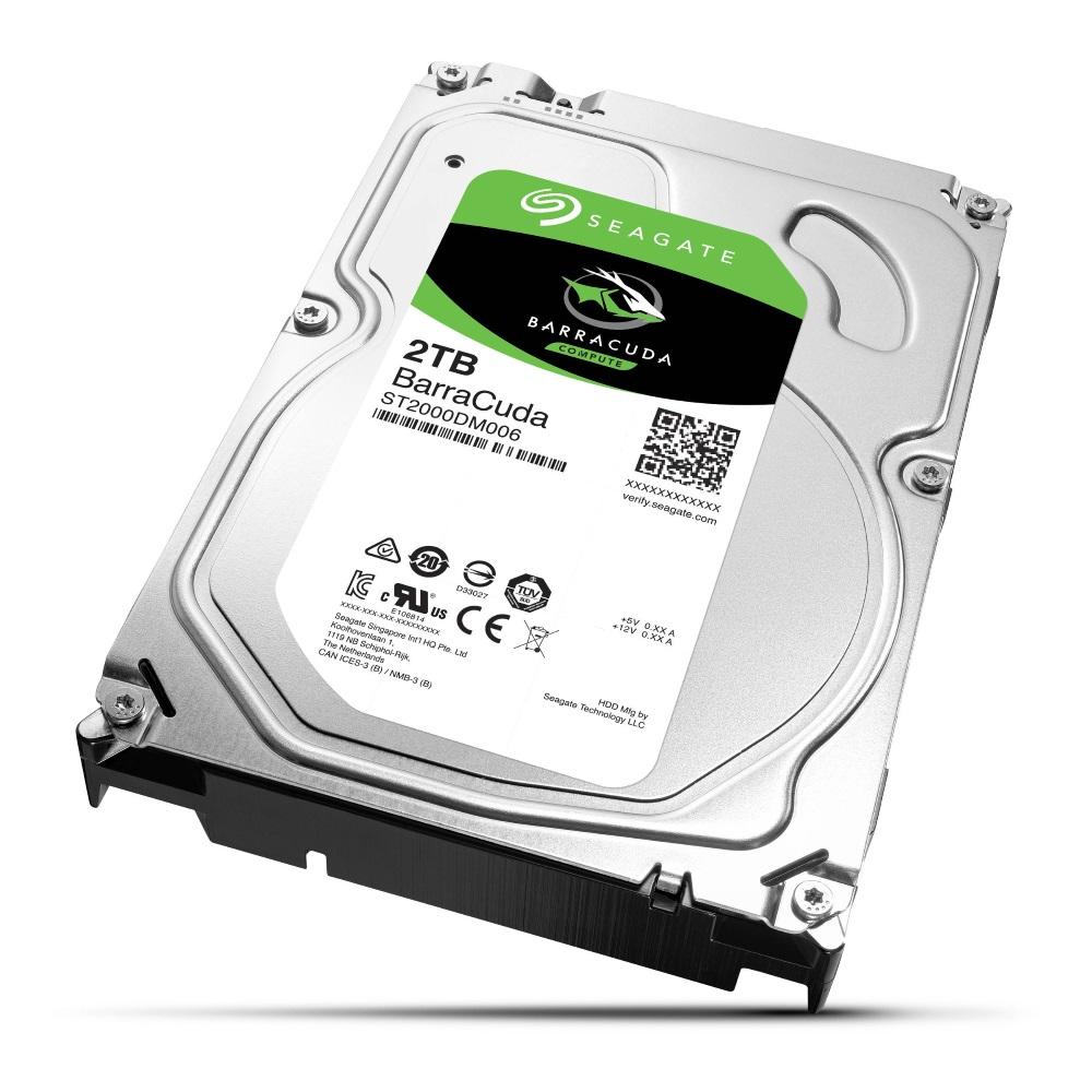 Pevný disk Seagate BarraCuda 2 TB Pevný disk, 3,5, 2 TB, interní, 7200rpm, SATA 6Gb/s, 64MB ST2000DM006