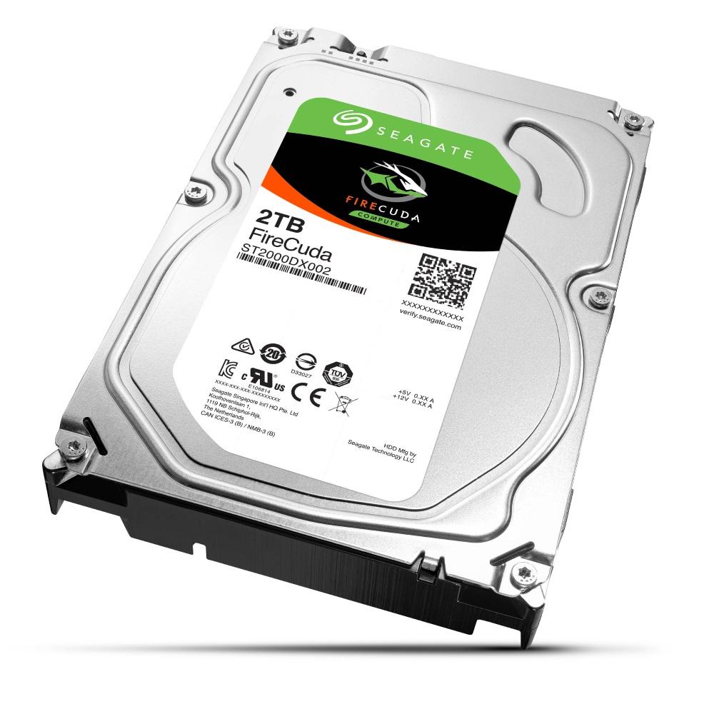 Pevný disk Seagate FireCuda 2 TB Pevný disk, 2 TB, SSHD, interní, 3,5, 7200rpm, SATA 6 Gb/s, 64MB ST2000DX002
