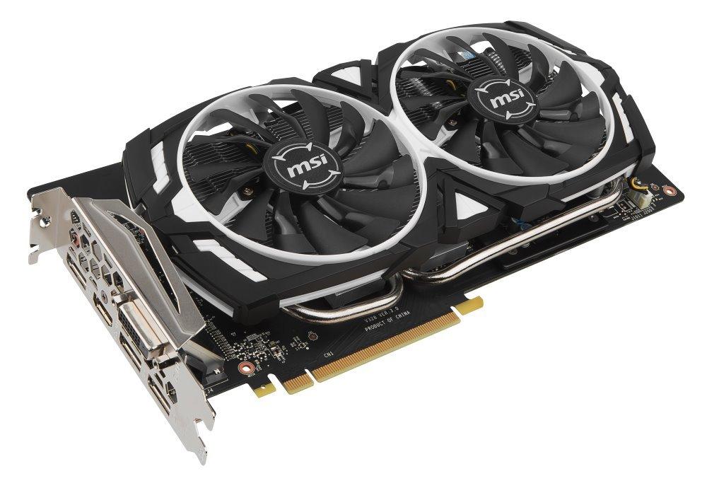 Grafická karta MSI GeForce GTX 1060 ARMOR 6G OC Grafická karta, PCI-E, 6 GB DDR5, HDMI, 3x DP, DVI, VR Ready GTX 1060 ARMOR 6G OC