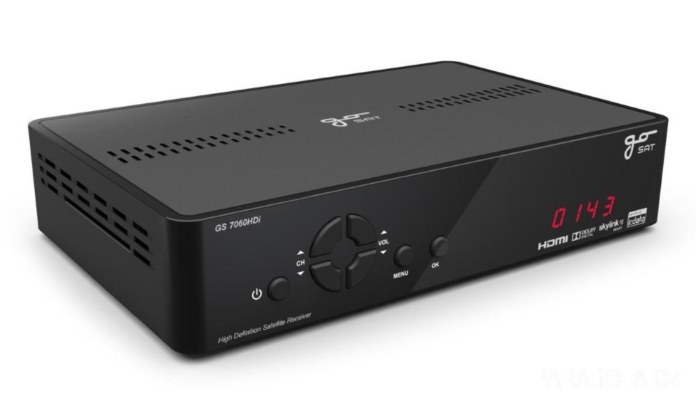 Satelitní přijímač GoSAT GS7060HDi Satelitní přijímač, full HD, s vestavěným licencovaným dekodérem IRDETO PI-sys SRGS7060