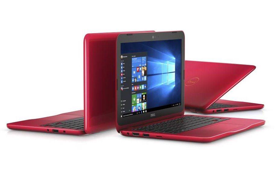 Notebook DELL Inspiron 11 červený Notebook, Pentium Quad Core N3710, 4GB, 128GB SSD, 11.6, W10, červený, 2YNBD on-site N-3162-N2-012R