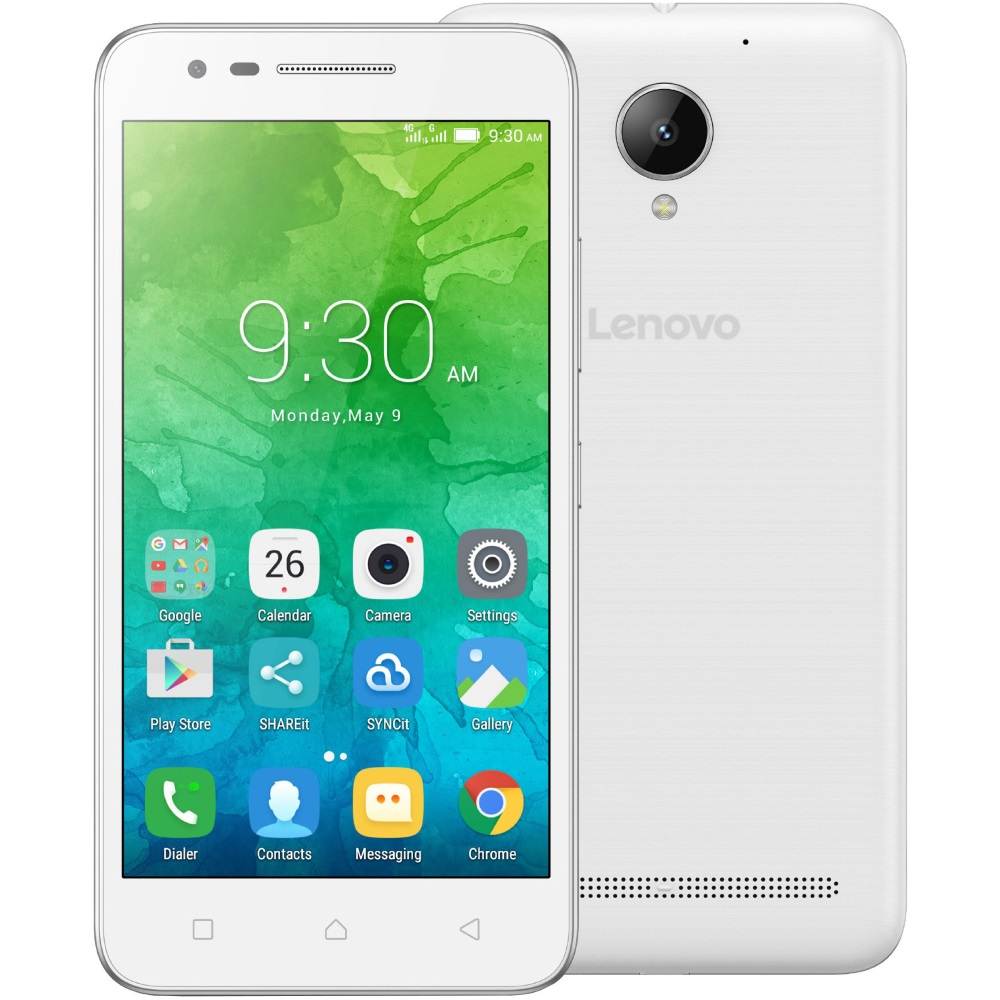 Mobilní telefon Lenovo C2 Power bílý Mobilní telefon, Dual SIM, 5,0 IPS, 1280x720, Quad-Core, 1,0GHz, 2GB, 16GB, 8Mpx, LTE, Android 6.0, bílý PA450139CZ