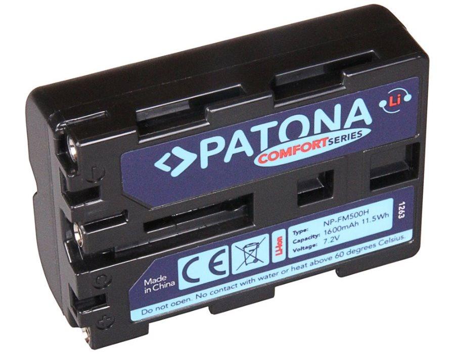 Baterie PATONA kompatibilní s Sony NP-FM500H Baterie, pro fotoaparát Sony NP-FM500H, 1600mAh, Li-Ion, Comfort PT1263