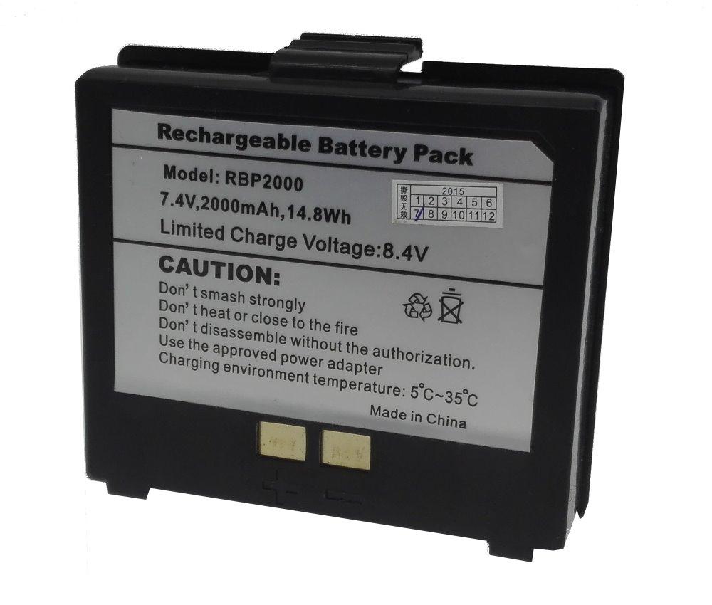 Baterie pro Cashino PTP-II, PTP-III 2000 mAh Baterie, pro přenosné tiskárny PTP-II, PTP-III, 2000 mAh SBA