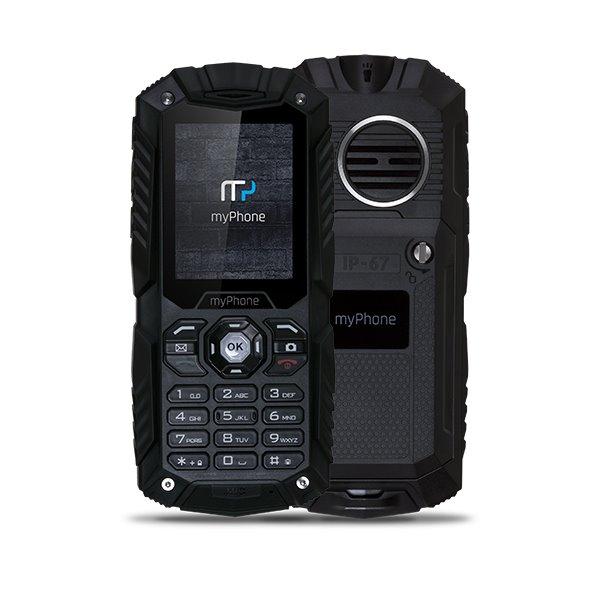 Mobilní telefon myPhone HAMMER Plus Mobilní telefon, 2,2 , Dual SIM, 64 MB, IP67, černý TELMYHHAPBK